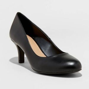 NWOT A New Day Jinny Faux Leather Round Toe Pumps